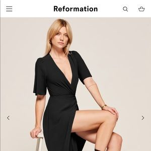 Reformation Westport Dress Petite | Black 4P | NWT